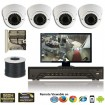 """D-Armor"" 4 Security Camera System package with  4 High resolution Sony Super HAD II w/ Sony Effio-E DSP 700TVL Vandal Indoor & Outdoor Dome w/ 2.8-12mm Lens, 36 LED Up to 100FT"