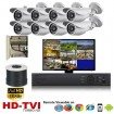 """(IPS-8LPBW)""""Premier Bullet"""" 8 HD Security Camera System package with  8 1080p BULLET Indoor & Outdoor IR Camera Up to 80FT"""