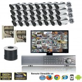"""(IPS-32LPC) """"Premier Compact"""" 32 Security Camera System package with 32 MINI High resolution 600TVL Indoor & Outdoor IR Camera Up to 50FT"""