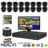 """(IPS-16LPC) """"Premier Compact"""" 16 Security Camera System package with 16 720P Vandal Dome Indoor & Outdoor IR Camera Up to 80FT"""