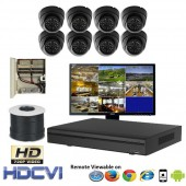 """(IPS-8LPC) """"Premier Compact"""" 8 Security Camera System package with 8 720P Vandal Dome Indoor & Outdoor IR Camera Up to 80FT"""