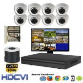 """(IPS-108LPCW) """"Premier Compact 1080"""" 8 Security Camera System package with 8 1080P Vandal Dome Indoor & Outdoor IR Camera Up to 80FT"""