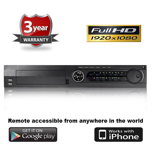 (IPS-7332HG-SH) 32 Channel Standalone HD-TVI Tribrid DVR w/ Remote & Mobile Viewing