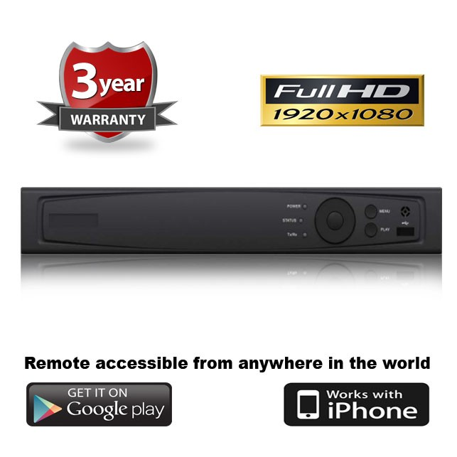 (IPS-7208HG-SH) 8 Channel Standalone HD-TVI DVR w/ Remote & Mobile Viewing