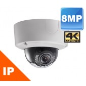 (IPS-2CD4585F-IZ) 8MP 4K HD IR Vandal Dome IP Camera Indoor & Outdoor 150FT in TOTAL DARKNESS
