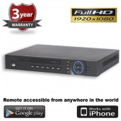 (IPS-16CVIDVR) 16 Channel Standalone CVI 1080P DVR Remote & Mobile View compatible