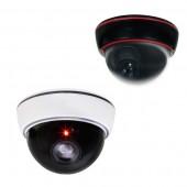 (IPS-LDD) Mini Fake Dummy Dome with flashing red LED. White or Black