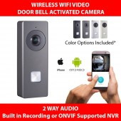 (IPS-KB6003-WIP) OEM Hikvision Doorbell Camera Intercom Wireless WIFI SD slot Record or ONVIF NVR