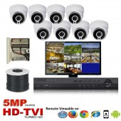 "(IPS-8TVID5MP) ""Platinum Compact 5MP"" 8 Security Camera System package with 8 x 5MP Vandal Dome Indoor & Outdoor IR Camera Up to 80FT"
