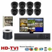 """(IPS-8TVIDB) """"Premier Compact 1080"""" 8 Security Camera System package with 8 1080P Vandal Dome Indoor & Outdoor IR Camera Up to 80FT"""