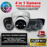 High Definition Surveillance Security Solution NEVER been easier 4-IN-1 Technology
